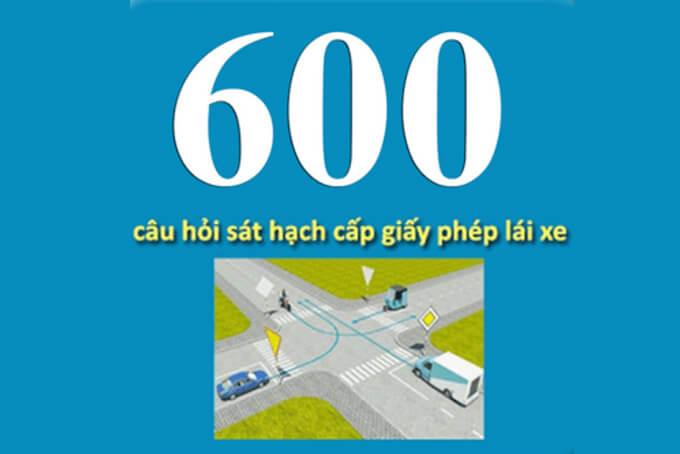 bộ đề 600 câu hỏi GPLX