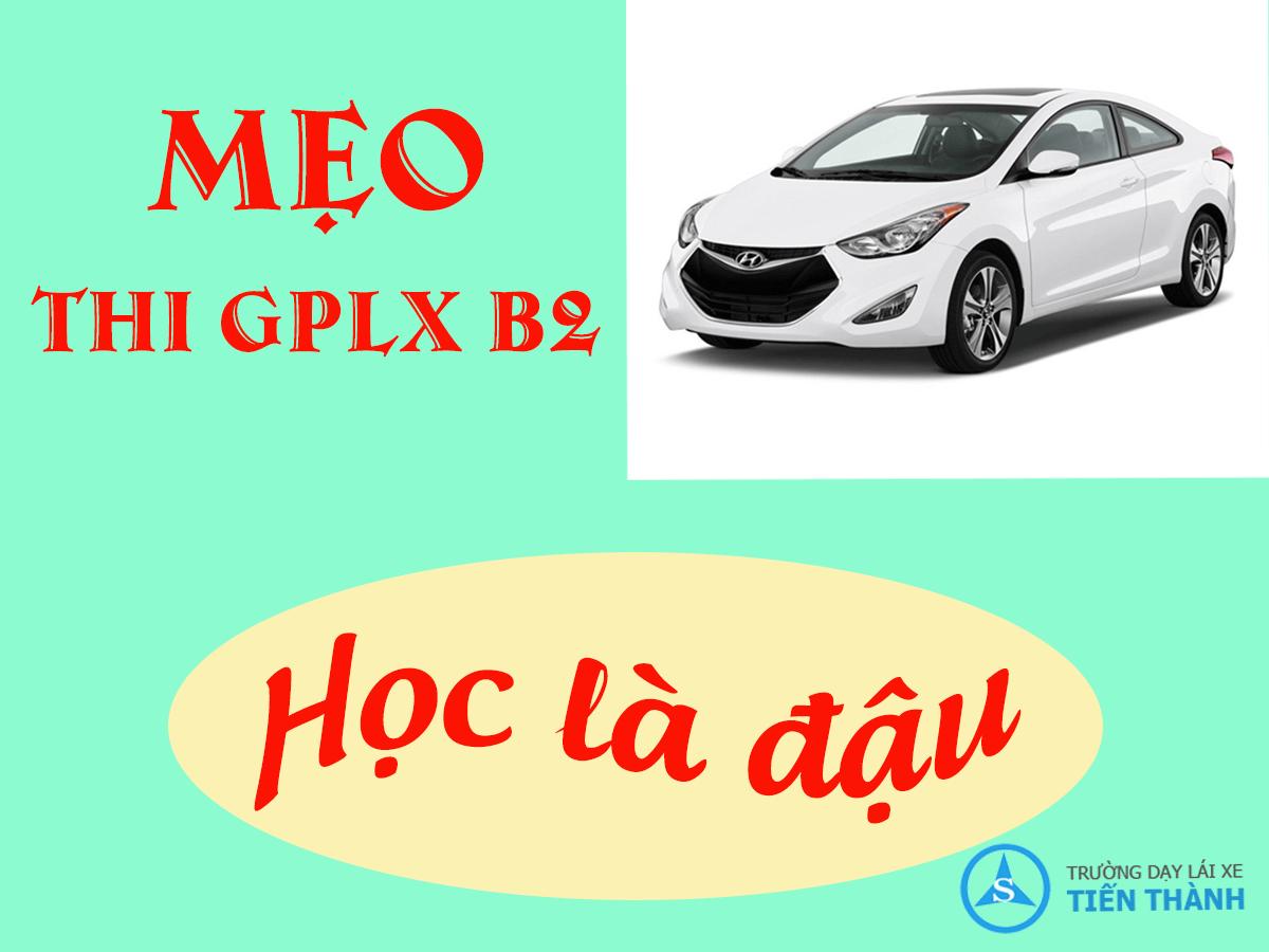 Mẹo thi GPLX ô tô