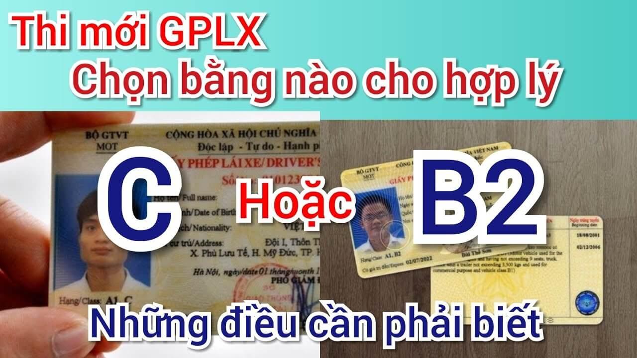 GPLX B2 và C