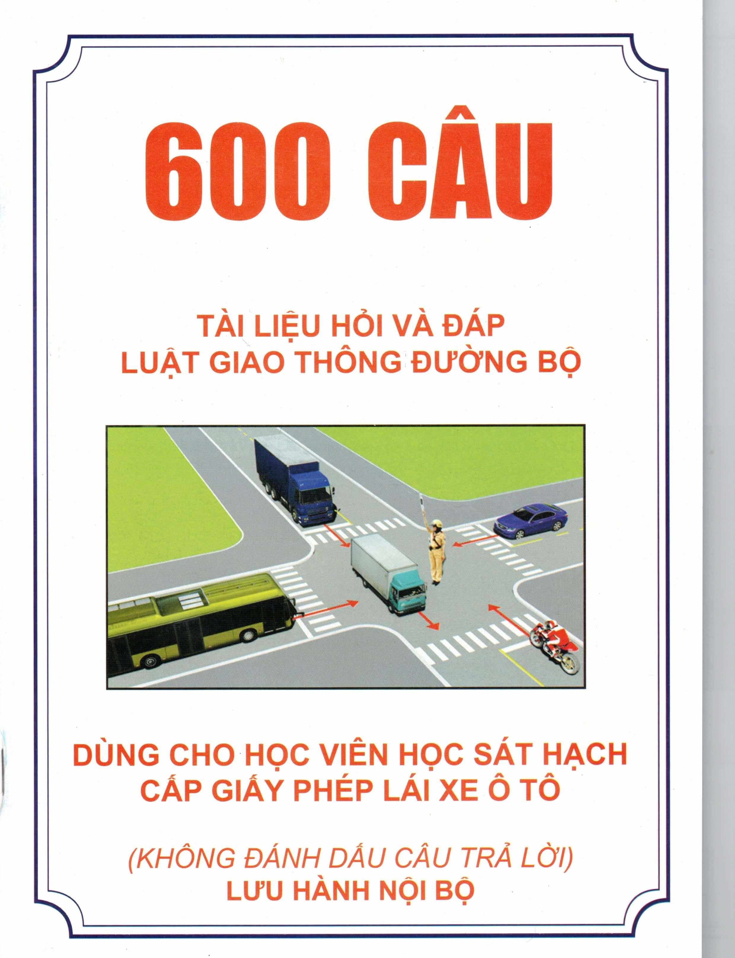 Bìa Sách LT học lái xe 600 câu - Tiến Thành