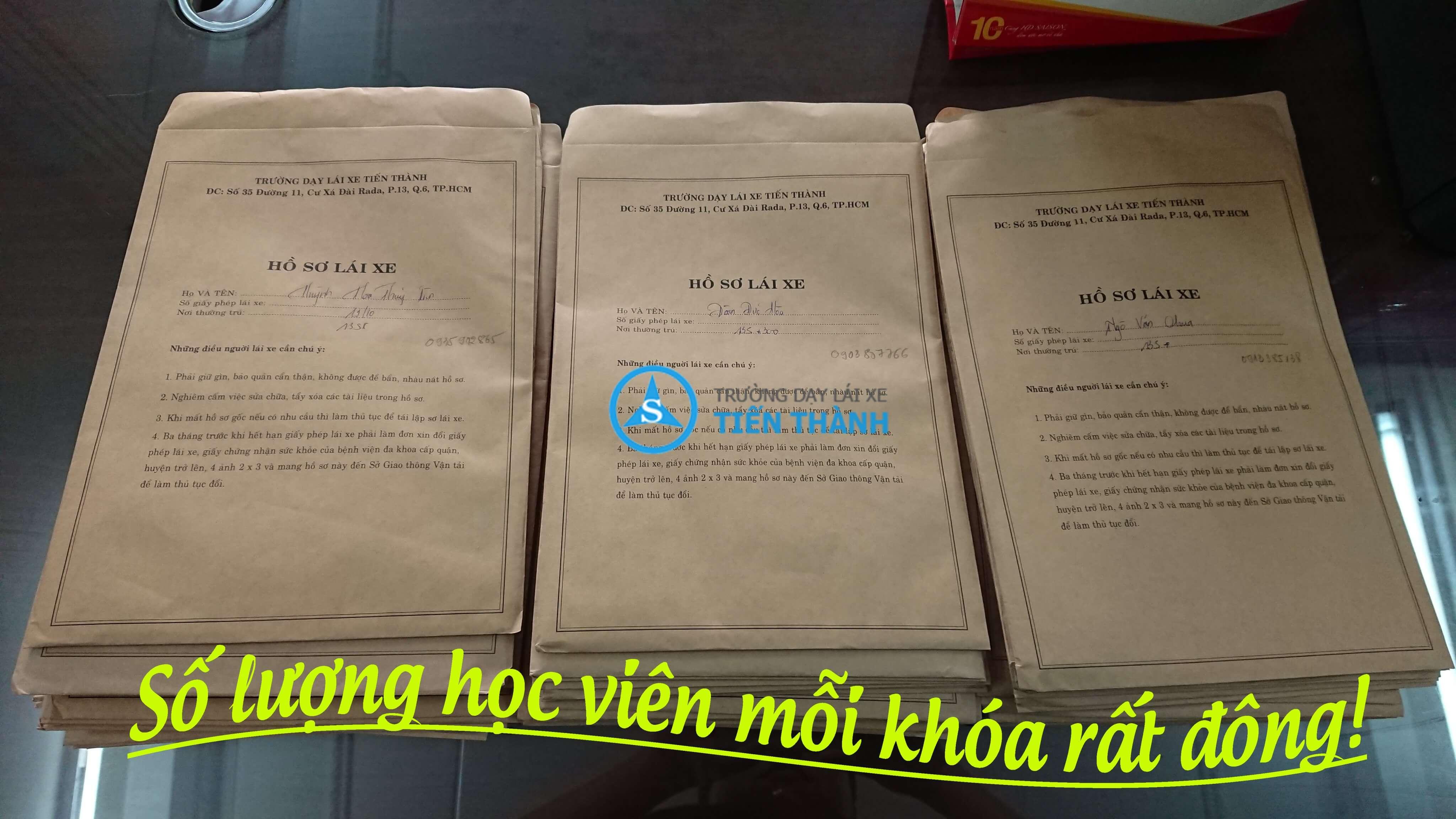Số lượng bằng lái mỗi khoá - Tiến Thành CN Bình Tân
